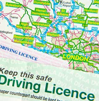 Local Map and Driving Licence